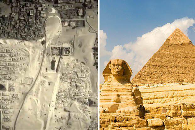 Gêmea da Grande Esfinge do Egito 'pode estar escondida sob montes de areia'