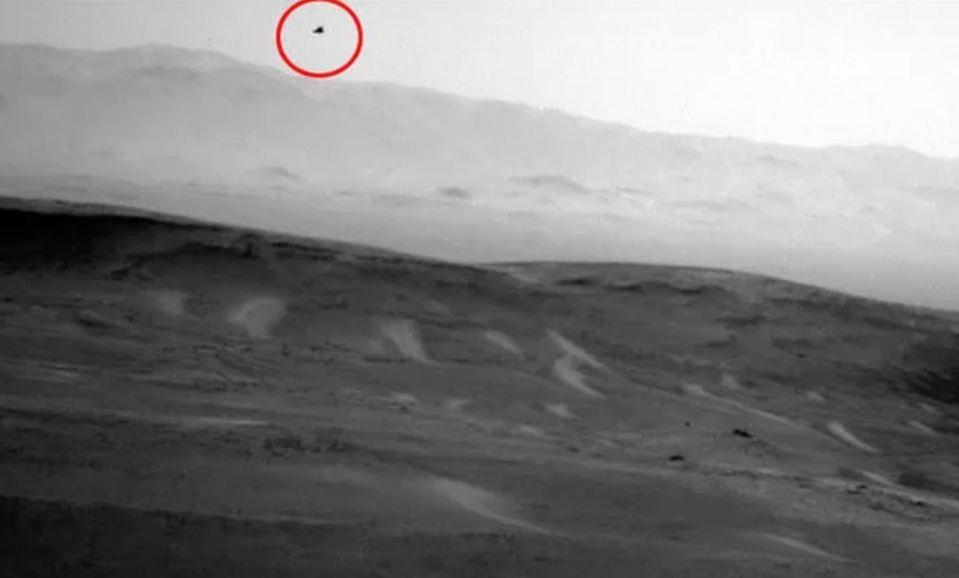 NASA fotografa pássaro em Marte 1