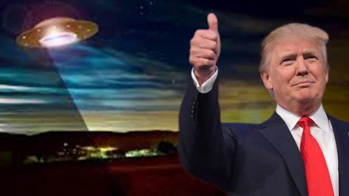 """Trump diz que vai """"dar uma boa e forte olhada"""" para ver se os OVNIs existem"""