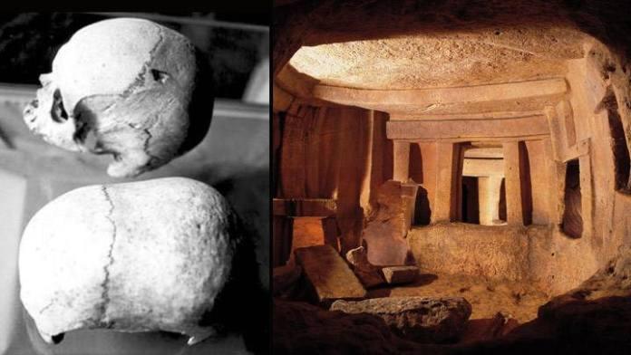 Alienígenas pré-históricos em Malta? Crânios alongados do hipogeu serão estudados