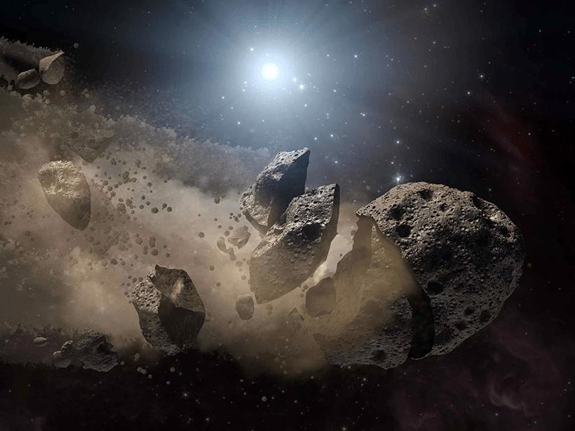 Testemunhando a destruição de um asteroide
