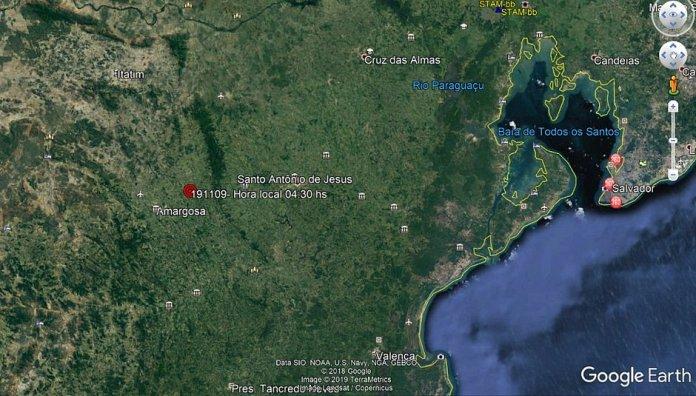 Tremor de terra atinge cidades do interior da Bahia, Brasil