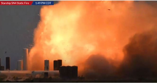 Protótipo da Starship (da SpaceX) explode gerando enorme bola de fogo