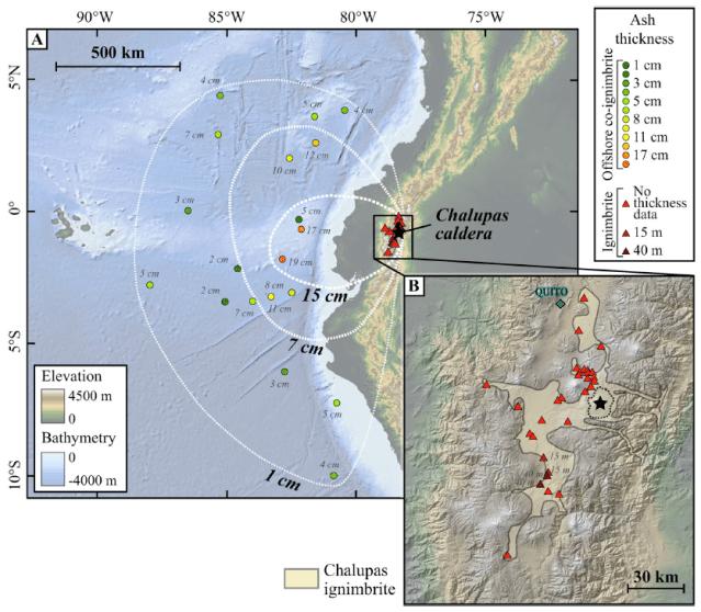 O vulcão Chalupas tem o potencial de varrer o Equador dos mapas