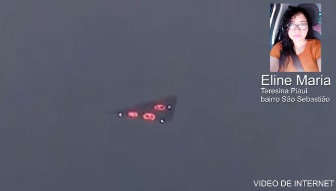 Mulher relata seu avistamento de OVNI triangular no Brasil