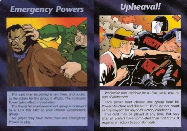 A previsão do jogo de cartas Illuminati de 1995 que se tornou a realidade de hoje