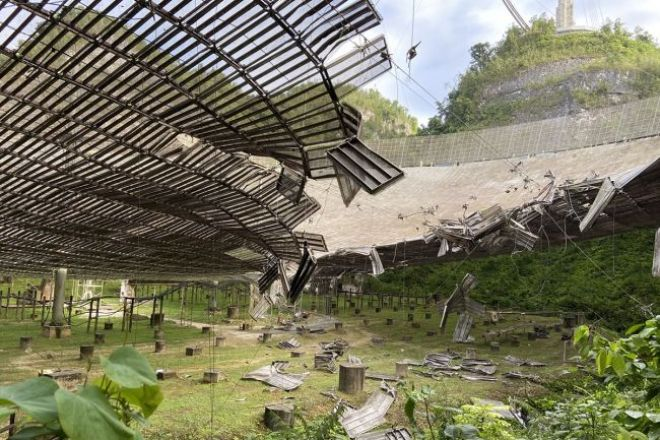 Outro cabo arrebentou no telescópio de Arecibo - cientistas estão preocupados