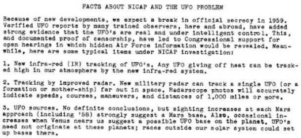 Detritos de OVNIs, desacobertamento e investigações do Congresso