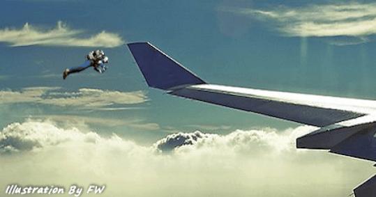 """Piloto relata sobre homem com """"jet pack"""" voando a 1.000 metros de altura"""
