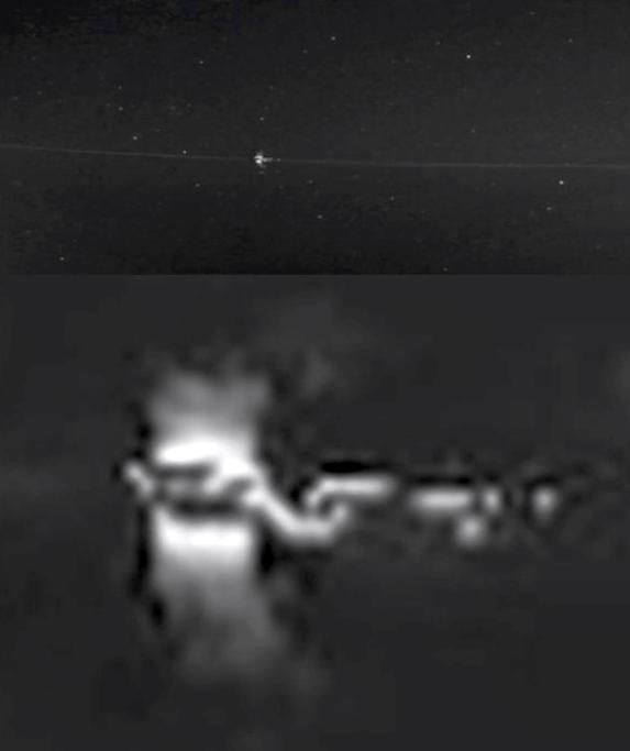 """""""Rocha espacial"""" entra na atmosfera terrestre e retorna ao espaço"""