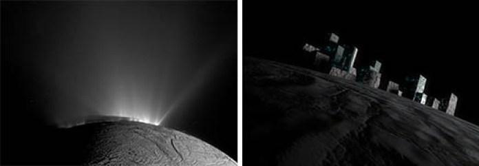 """Enorme """"estrutura"""" aparece em Encélado, a maior lua de Saturno"""