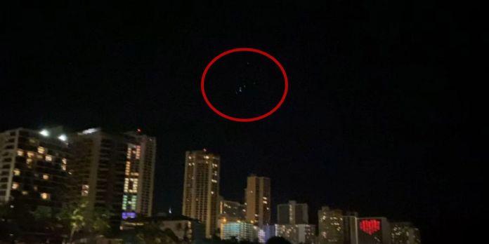 Luzes misteriosas aparecem sobre o Havaí - e não são satélites Starlink