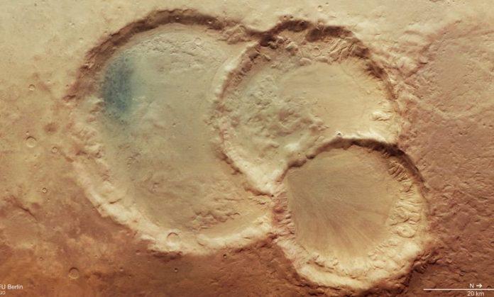 Cratera tripla em Marte pode provar que o planeta vermelho era habitável