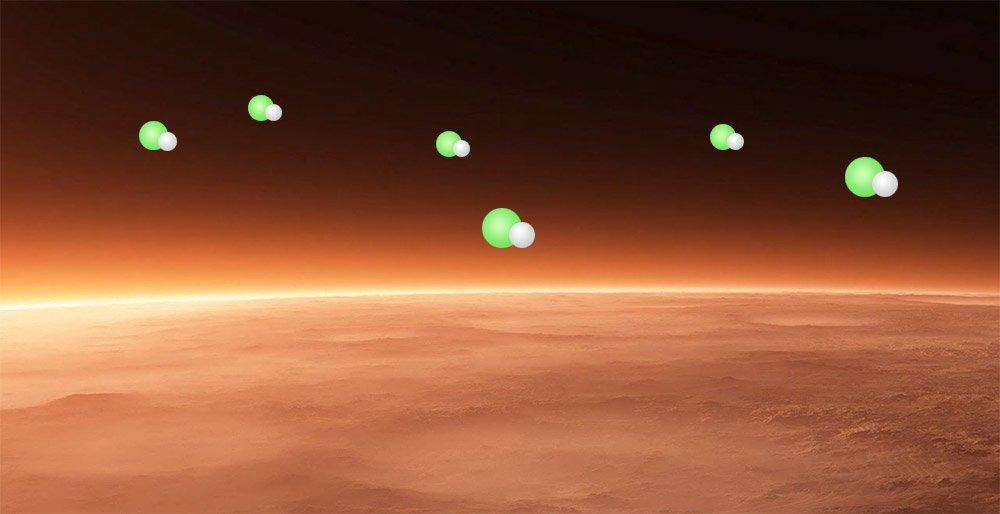 Uma reação química não observada anteriormente foi detectada em Marte