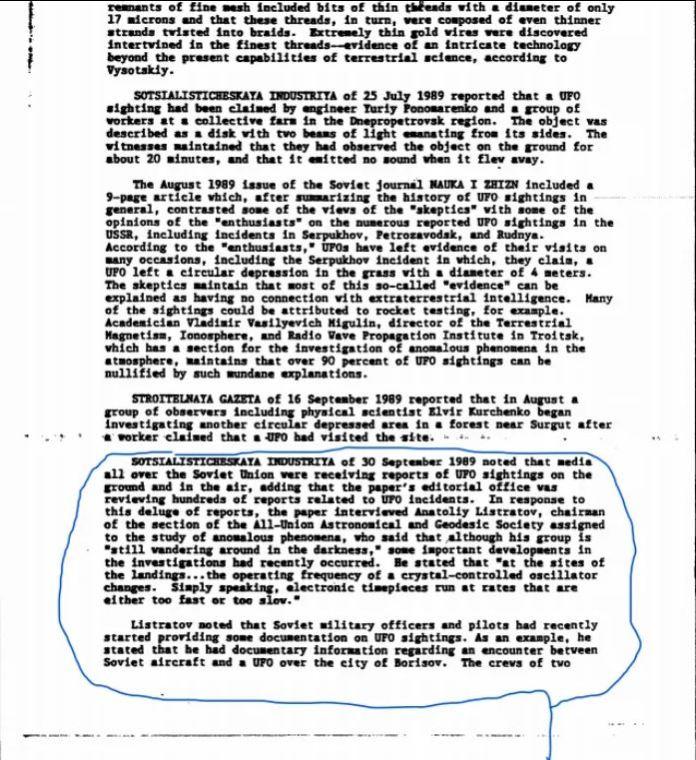 Documento da CIA revela que encontro com OVNI matou piloto russo