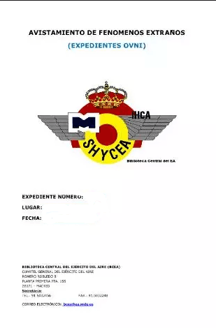 Expediente Ovni 1968-12-19 Avistamiento en Madrid