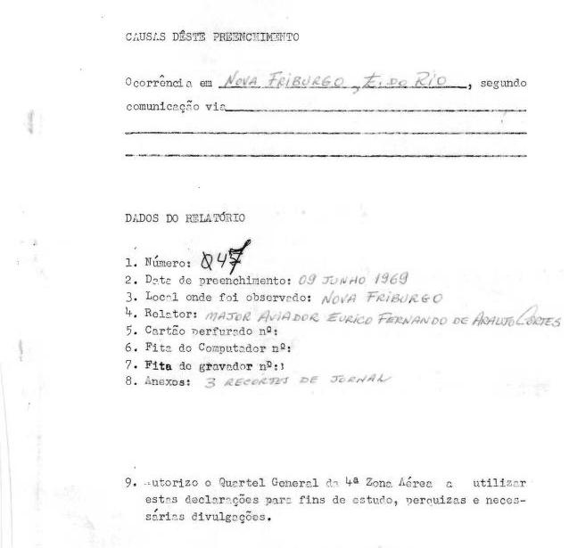 Brazilian UFO files