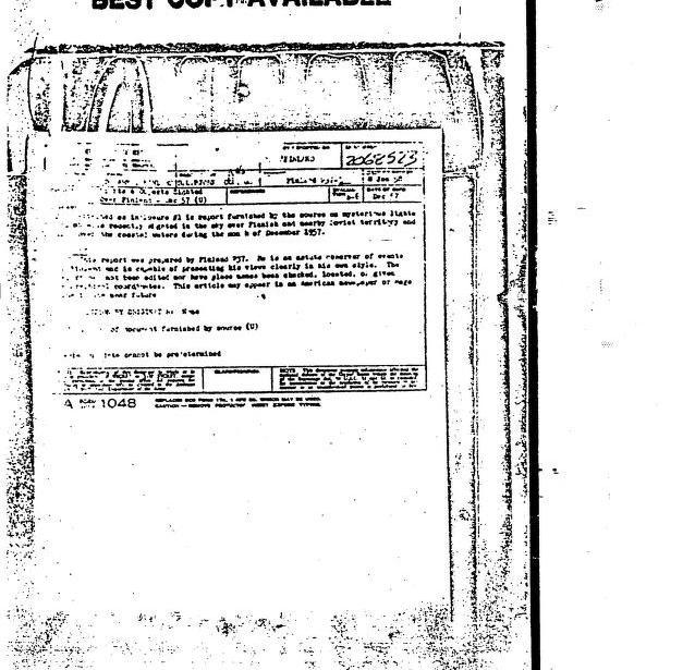DIA UFO files