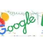 Google cumple 18 años y lo festeja con un doodle