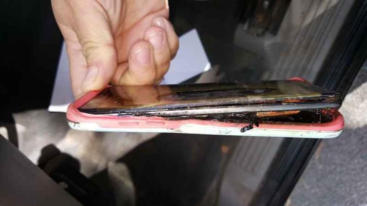 El Note 7 que ardió en la mano de una niña
