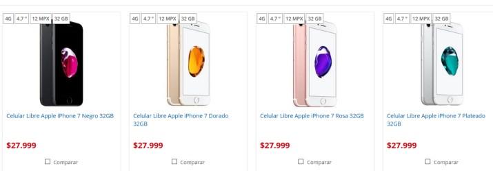 iPhone 7 precio Argentina