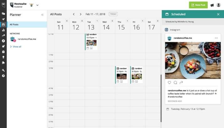 Instagram schedule