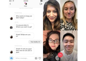 Chat video grupal Instagram