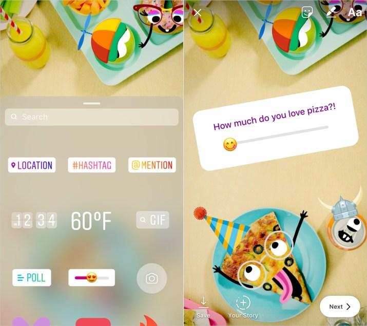 Emoji deslizable Instagram