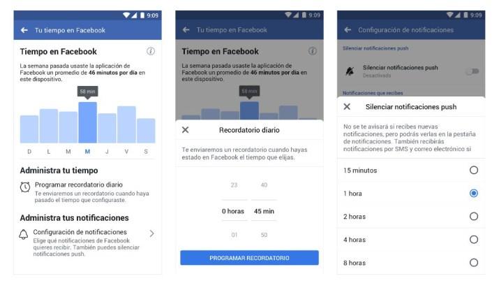 Control actividad Facebook