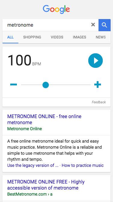 Metronomo Google