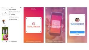 Tarjeta identificacion Instagram