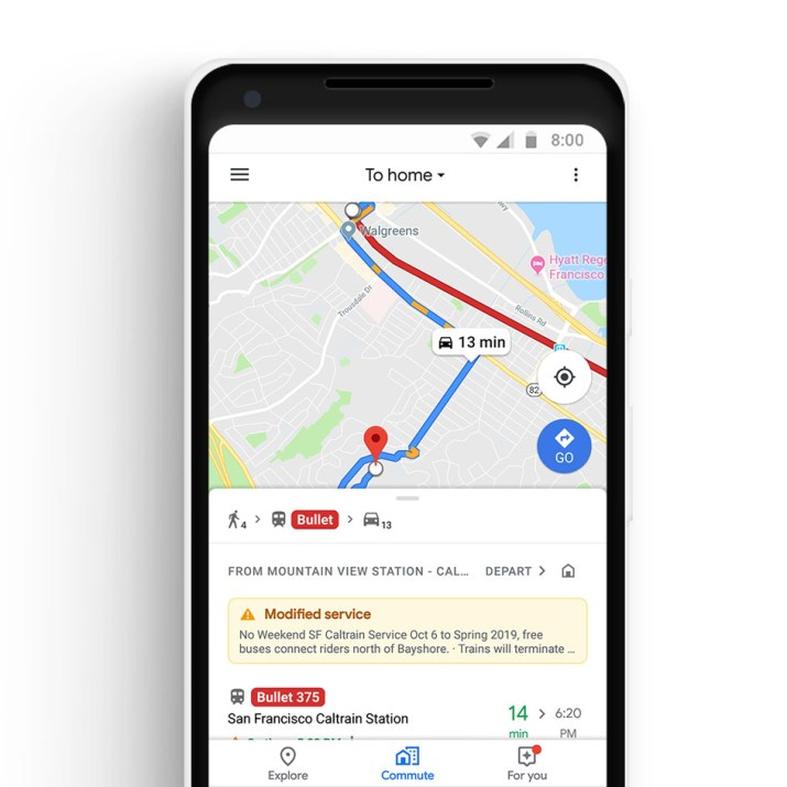 Viaje mixto Google Maps