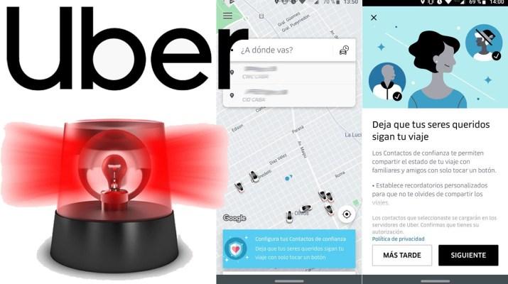 Boton antipanico Uber