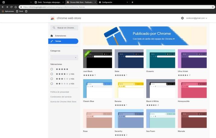 Temas Google Chrome