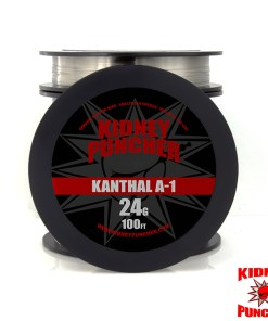 Kidney Puncher KANTHAL A-1 Wire 100 feet Kanthal A-1 Resistance Wire on a spool as shown in the picture. Kidney Puncher KANTHAL A-1 Wire 100 feet . Genuine Sandvik Wire - Smelted in Sweden, Milled in the USA. Made in the USA. This is NOT China wire. Kidney Puncher American Premium Vaping Wires