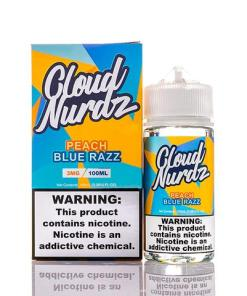 Cloud Nurdz Peach Blue Razz eLiquid 100ml