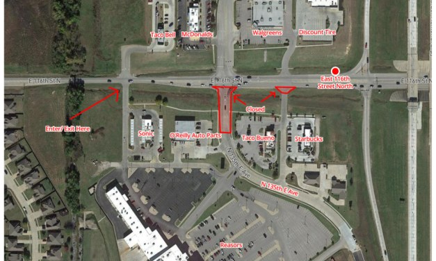Southbound Entrance to 135th East Avenue from 116th to Close Beginning November 16th