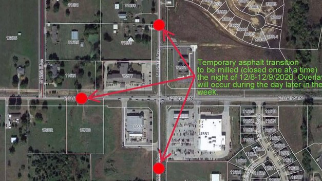 116TH Street North/129th East Ave Overnight Road Closure Between 12/08/2020 and 12/09/2020.