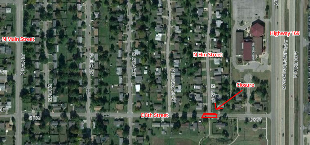 8th and Elm Road Closure Scheduled for Monday