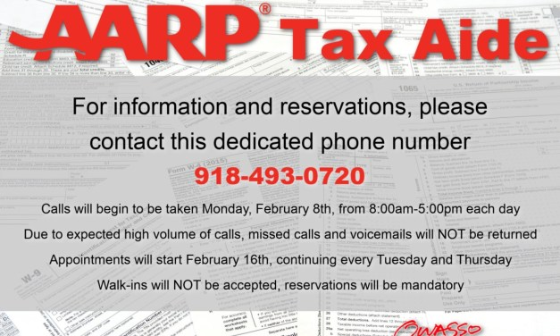 Free Income Tax Filing for Seniors Offered at Owasso Community Center