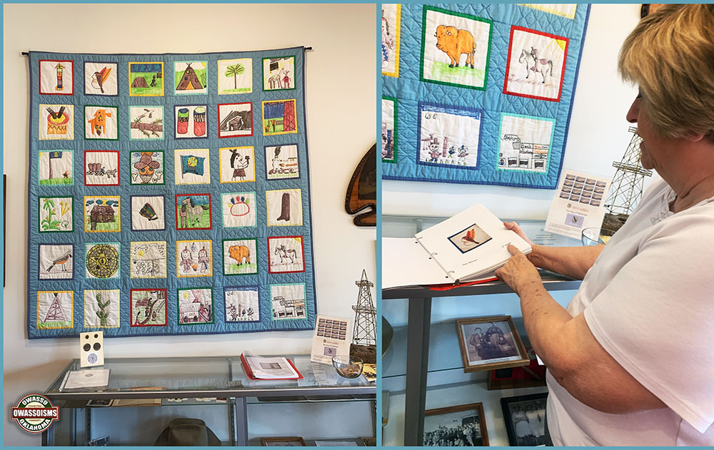 Vintage Quilt Designed by Mills Elementary Students Featured at Owasso Historical Museum