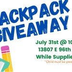 Backpack and School Supply Giveaway