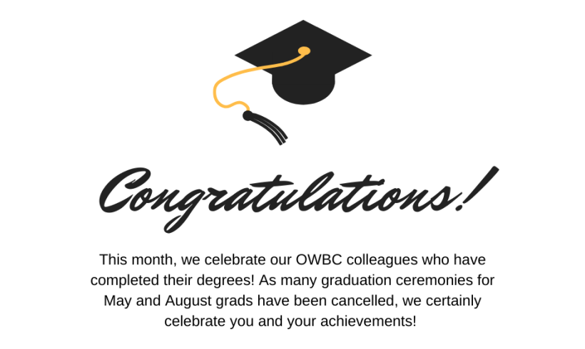 Celebrating Employees who Earned their Degree during COVID-19