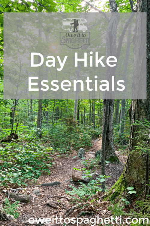 day hike essentials pinterest pin