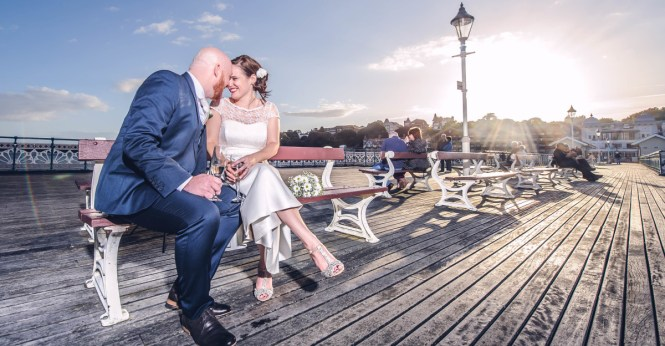Laura Chris Together At Southerndown South Wales Wedding Photographer
