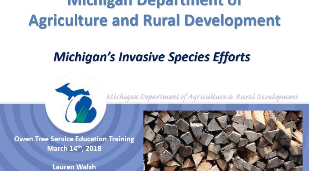 Invasive species - Michigan