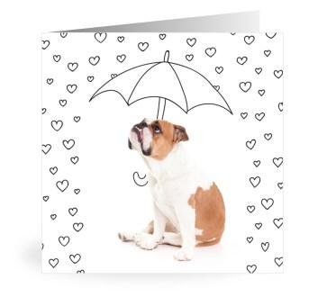 Owiwi bulldog hartjes kaart