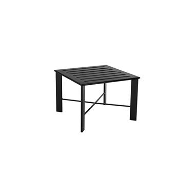OW Lee Modern Aluminum Slatted Top Side Table