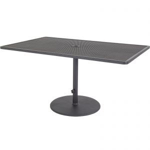 OW Lee Pedestal Iron Dining Table