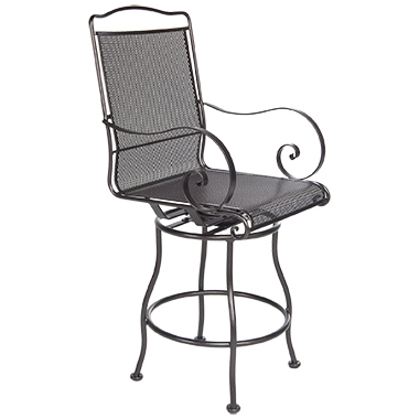 OW Lee Avalon Swivel Counter Stool With Arms